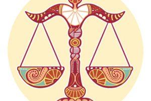 signo de libra balanca ilustracao