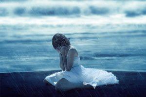 sonhar que está chorando