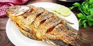 Sonhar com peixe frito
