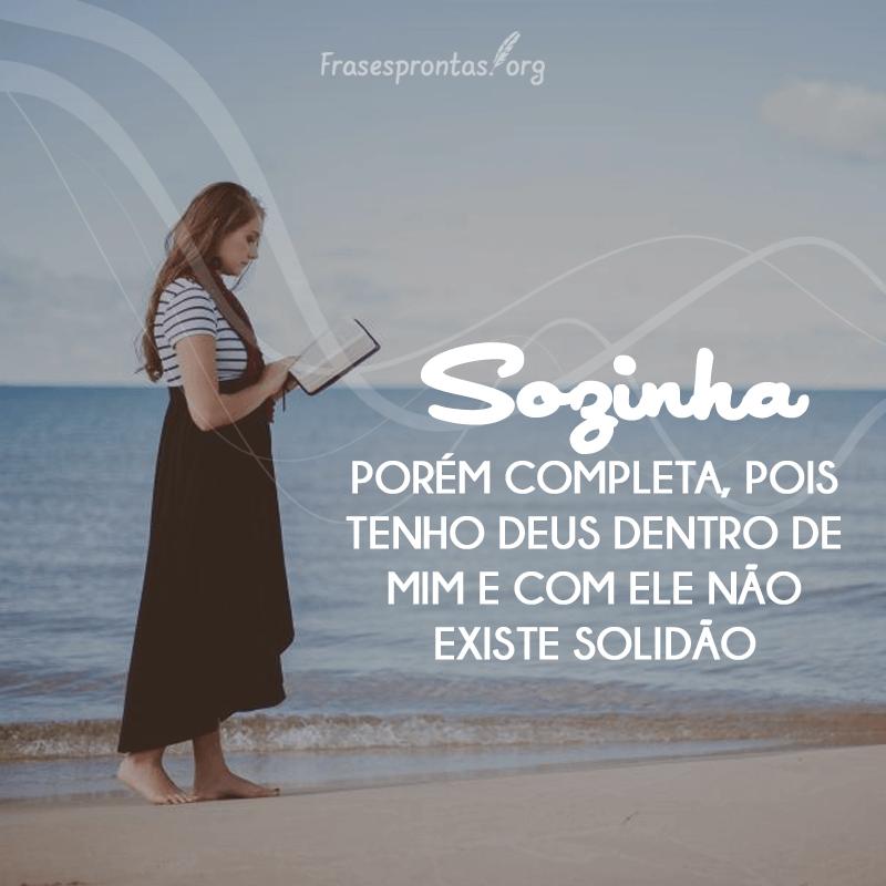 Frase Sozinha com Deus