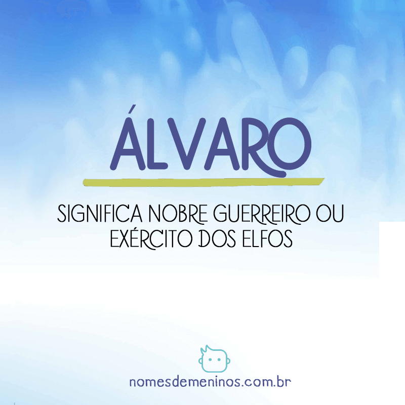 Significado do nome Alvaro
