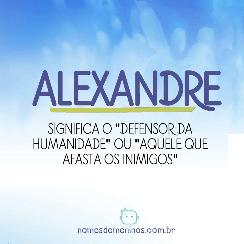 Significado de Alexandre