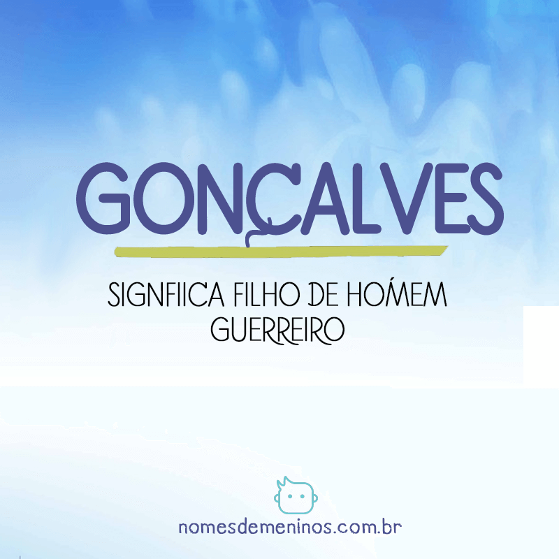 Significado do nome Gonçalves