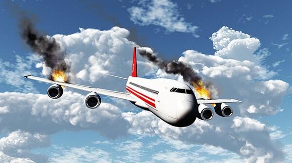Sonhar com avião caindo e explodindo