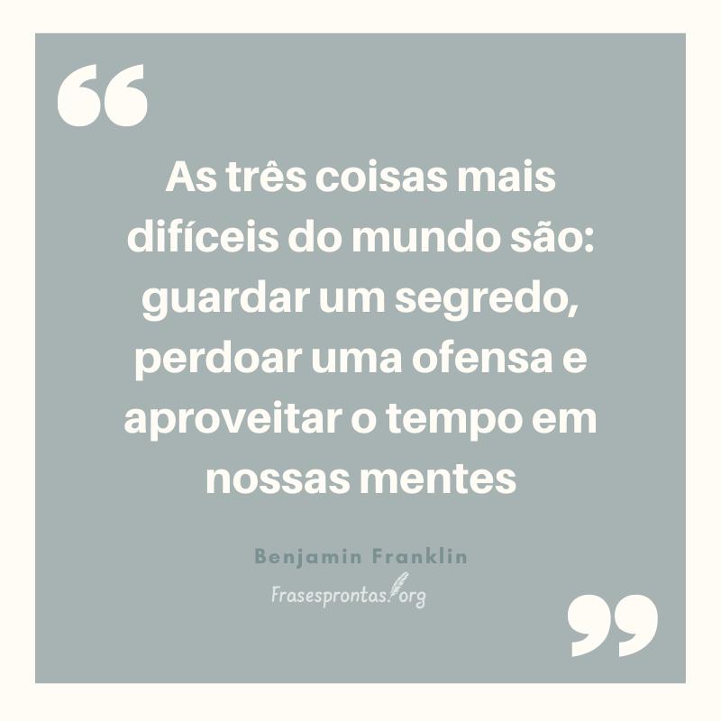 Frase de Benjamin Franklin