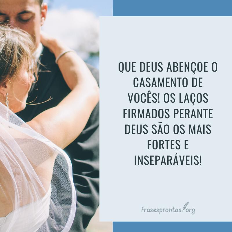frase de parabéns para o casamento
