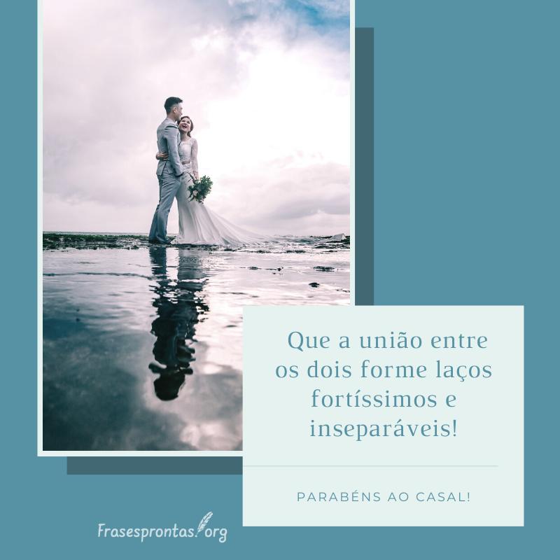 frase de parabéns pelo casamento