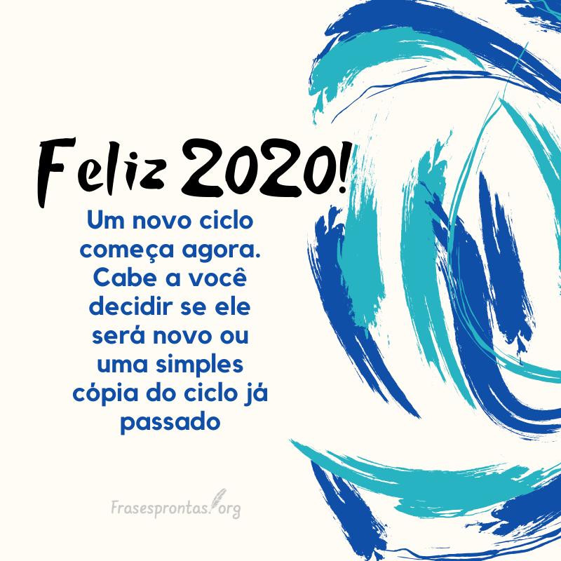 Frase de feliz 2020