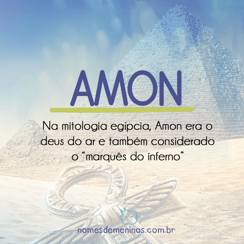 Amon - Significado do nome egípcio