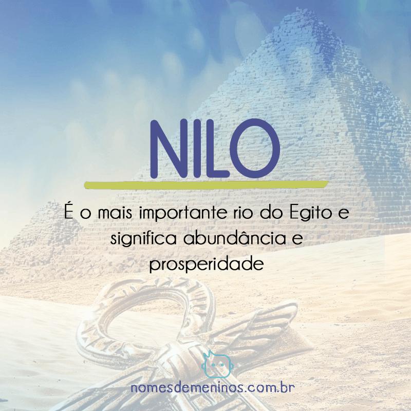 Nilo - Significado do nome egípcio