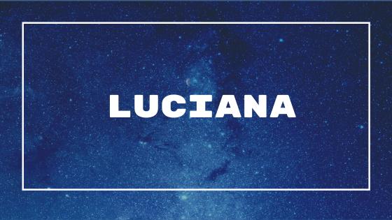 Nome Luciana