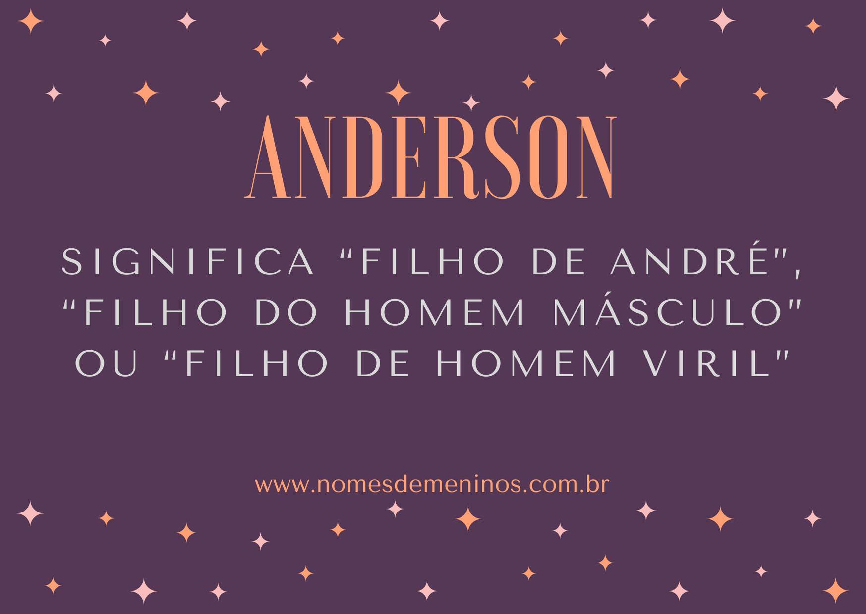 Anderson nome