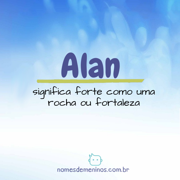 Alan Significado do nome
