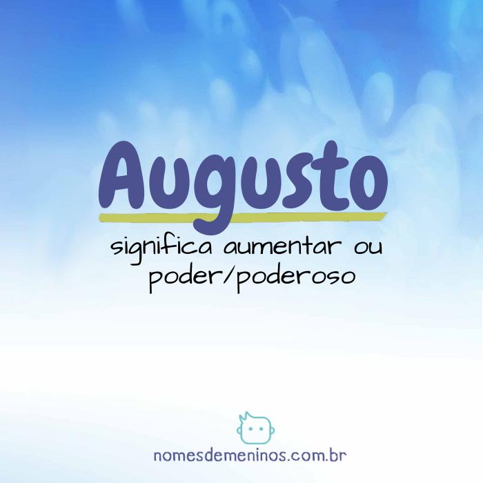 Significado de Augusto