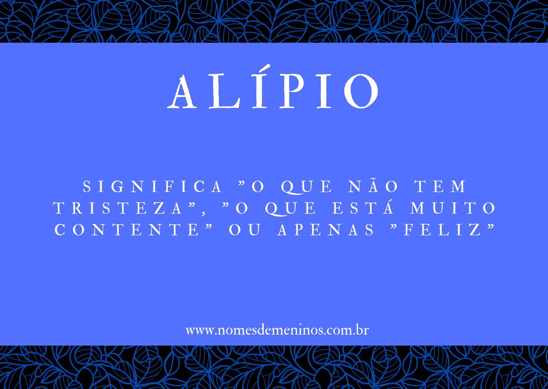 nome Alípio