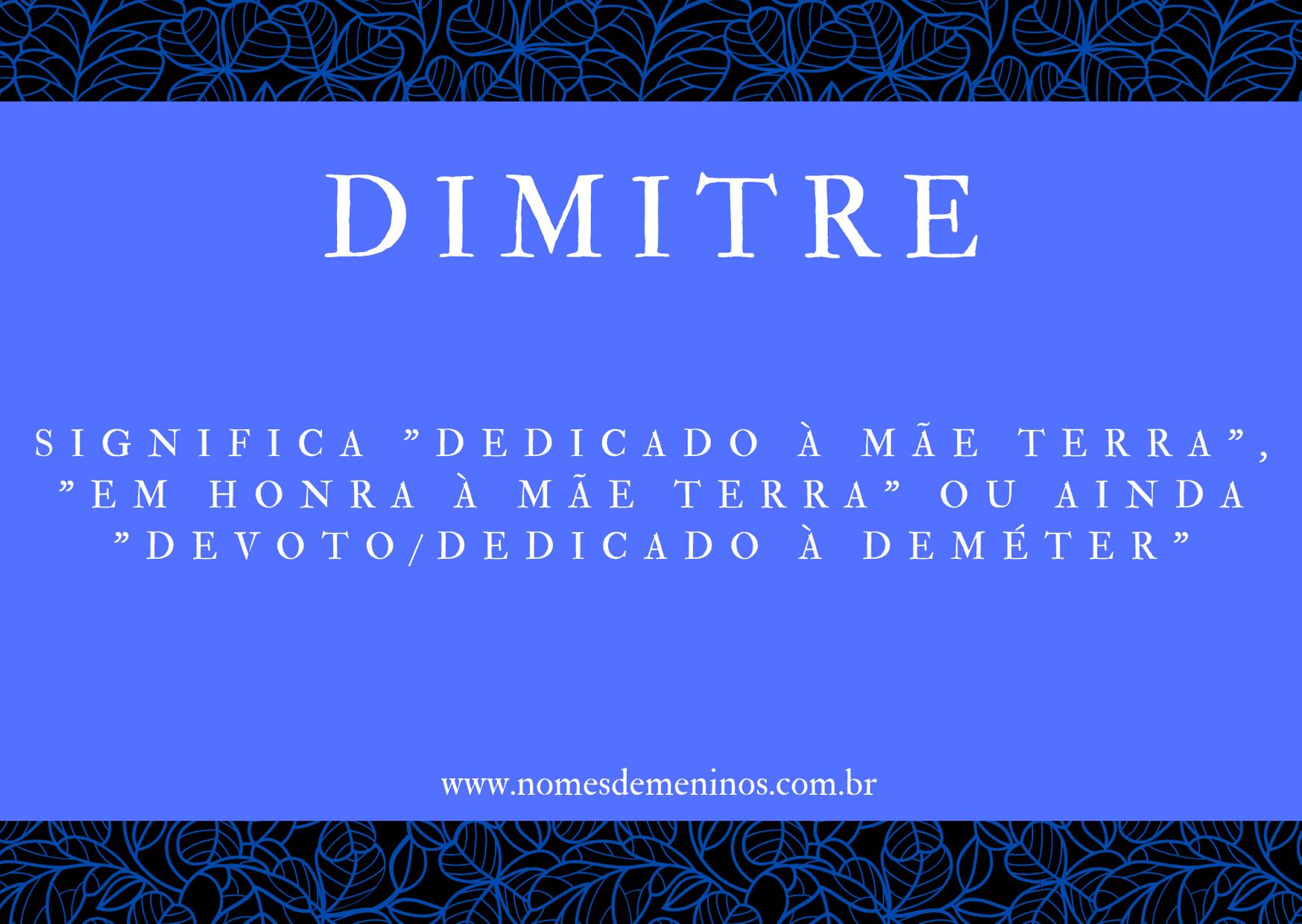 nome Dimitre