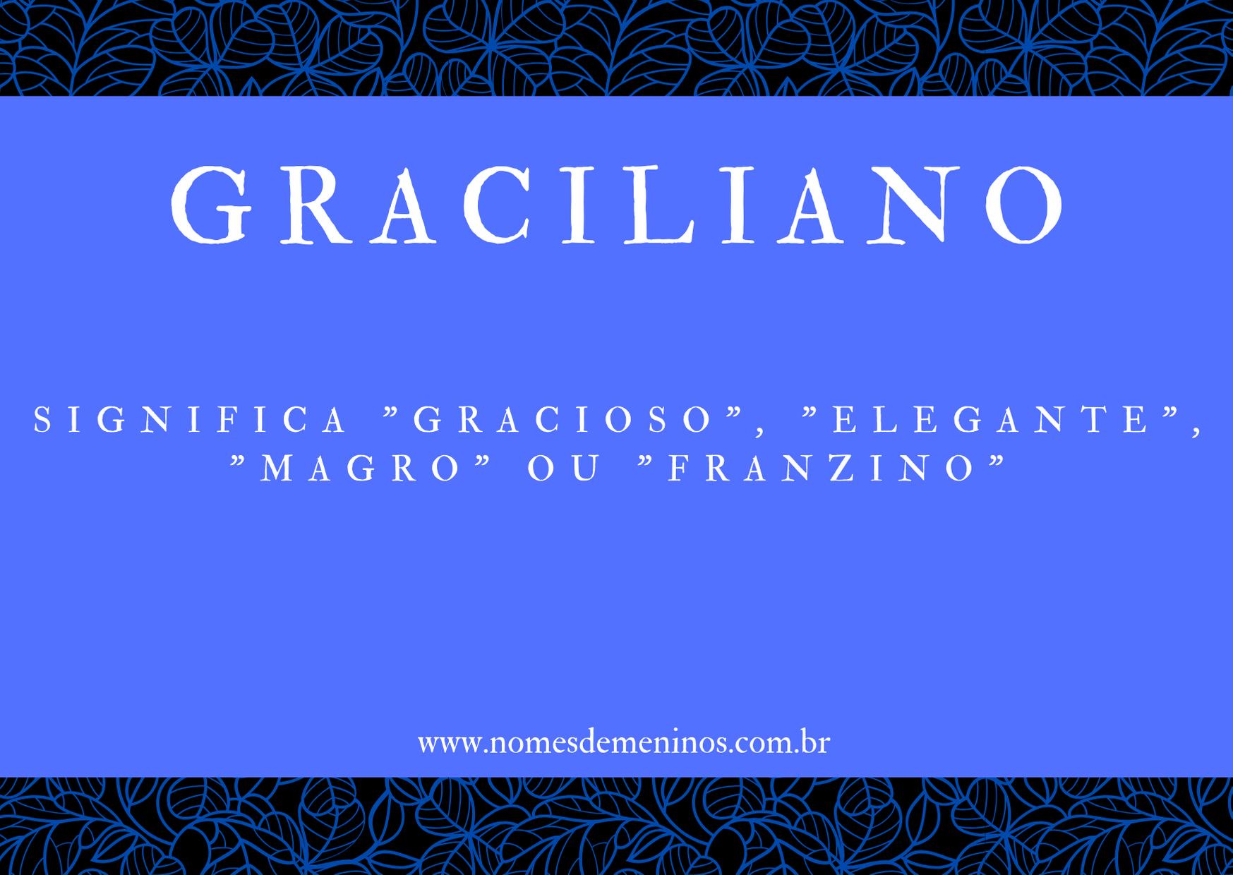 nome Graciliano