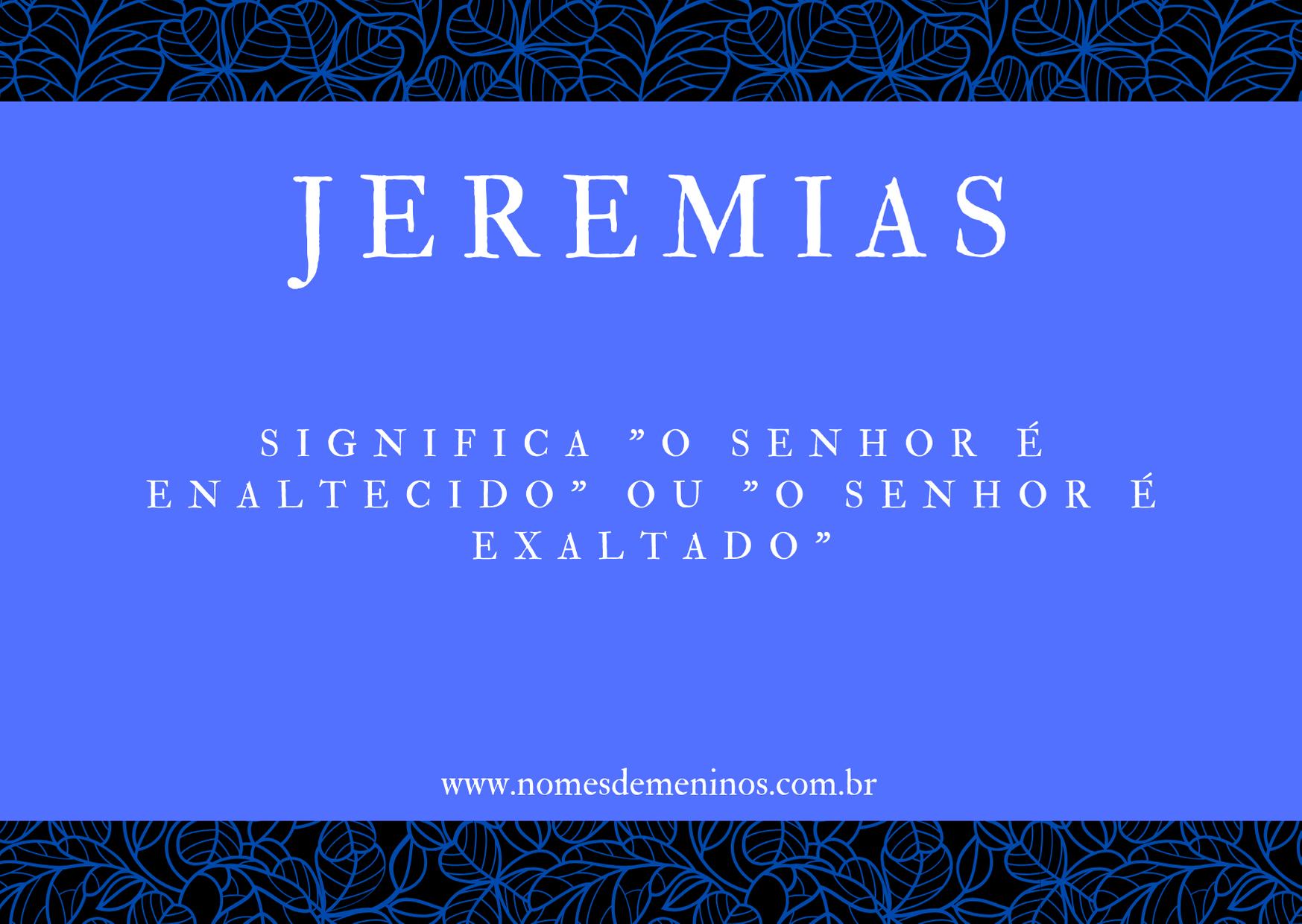 nome Jeremias