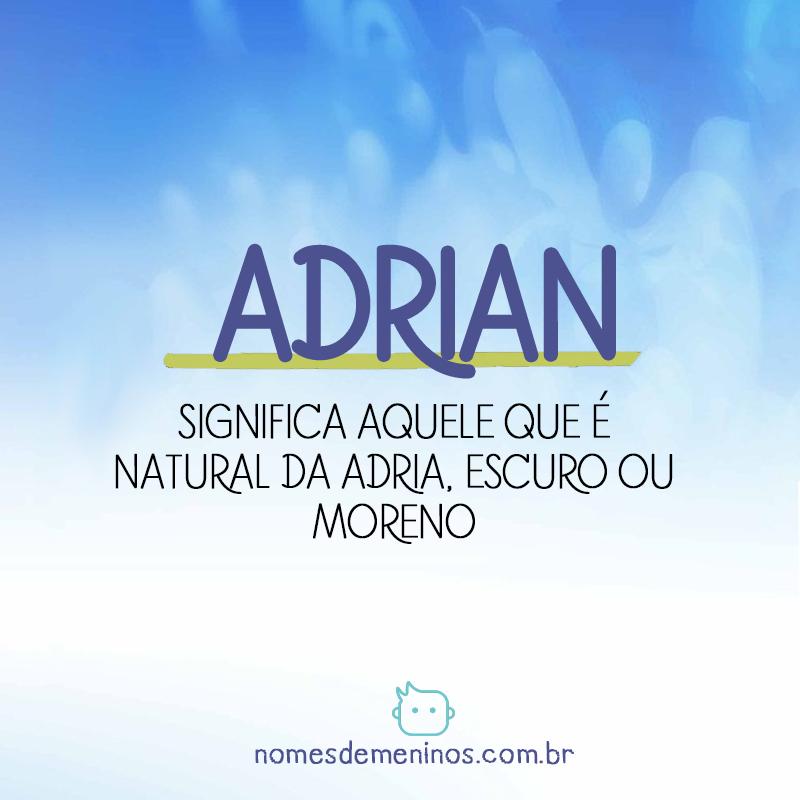 Significado de Adrian