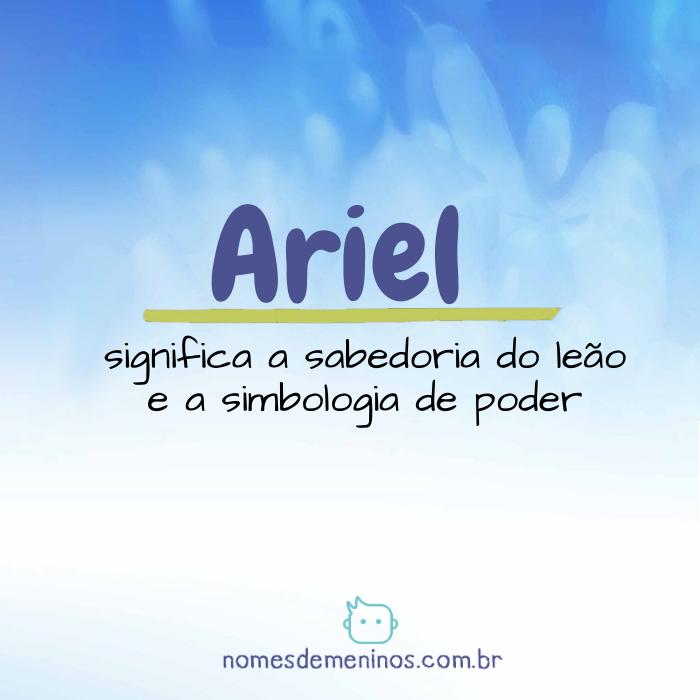 Significado de Ariel