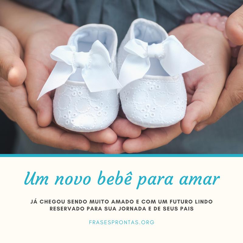 Frase de nascimento de bebê