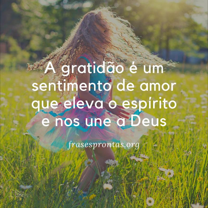Frase evangélica de gratidão