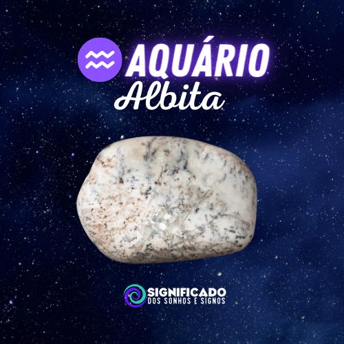 Pedra do signo de aquário