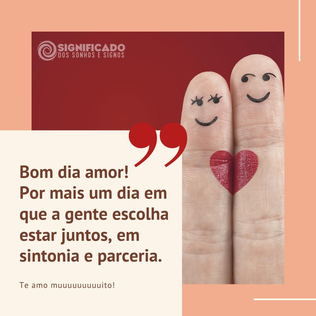 mensagem de bom dia amor para namorado