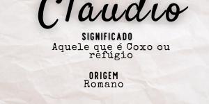 Significado do nome Cláudio