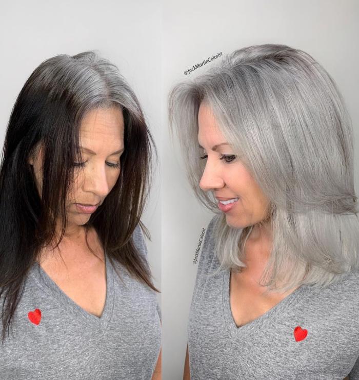 Mulheres com cabelo grisalho