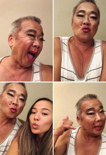 Pais que deixaram suas filhas fazerem sua maquiagem