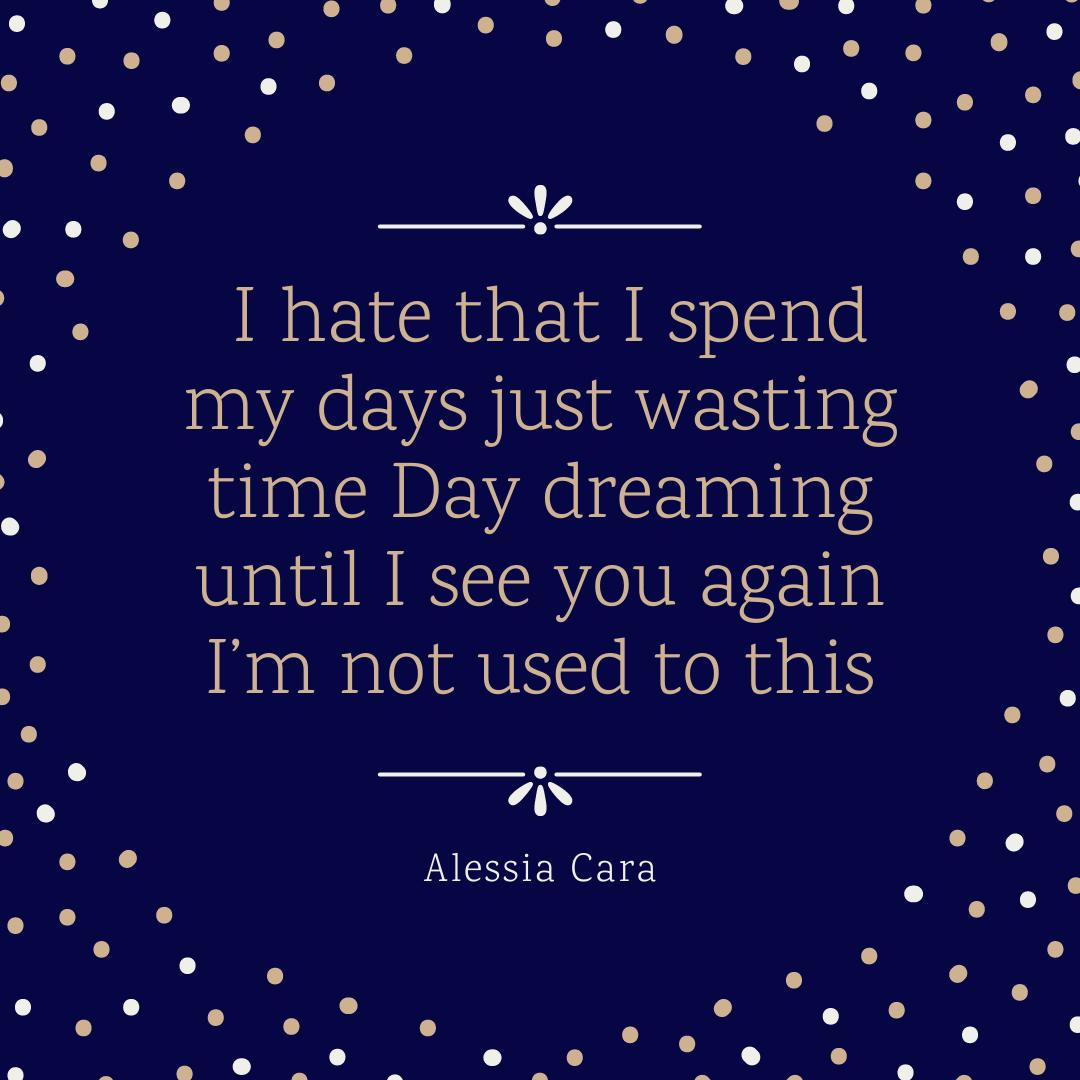 Frase de música romântica em inglês Alessia Cara –