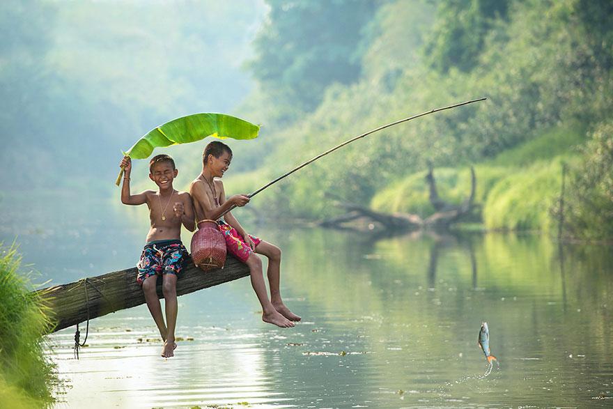 Pescar para relaxar