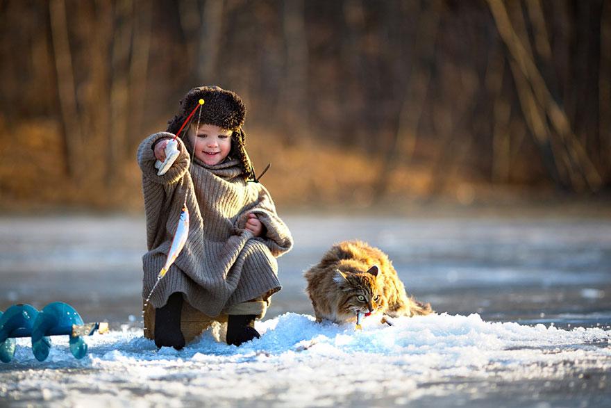 Pescando no gelo