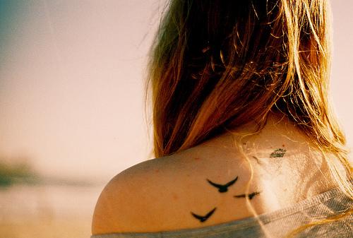 Pássaros voando - Tatuagem