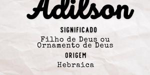 Significado do nome Adilson