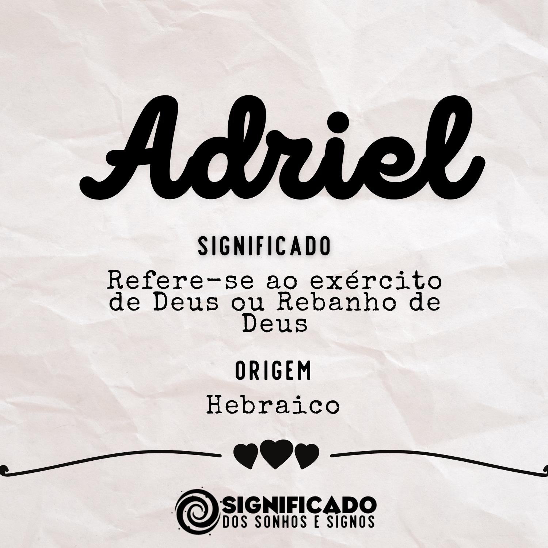 Significado do nome Adriel