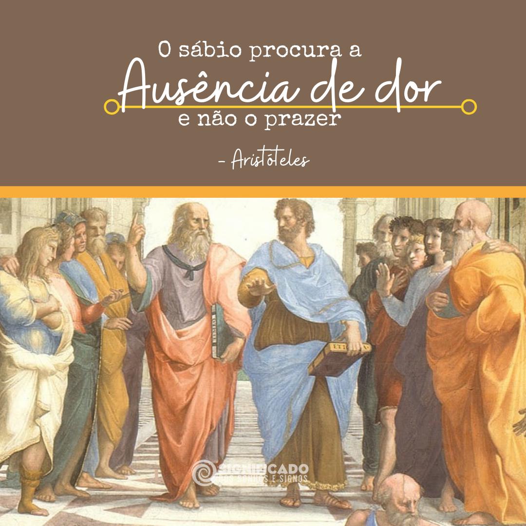Frase de Aristóteles sobre a vida