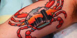 tattoo caranguejo