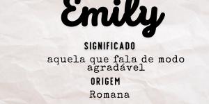 Significado do nome Emily