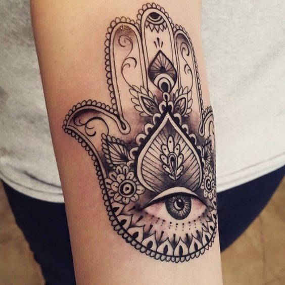 Tatuagem Mão Aberta