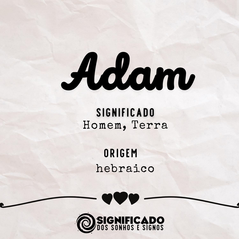 Significado do nome Adam
