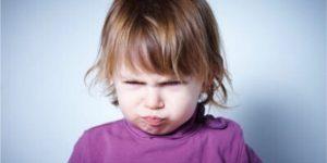 criança brava
