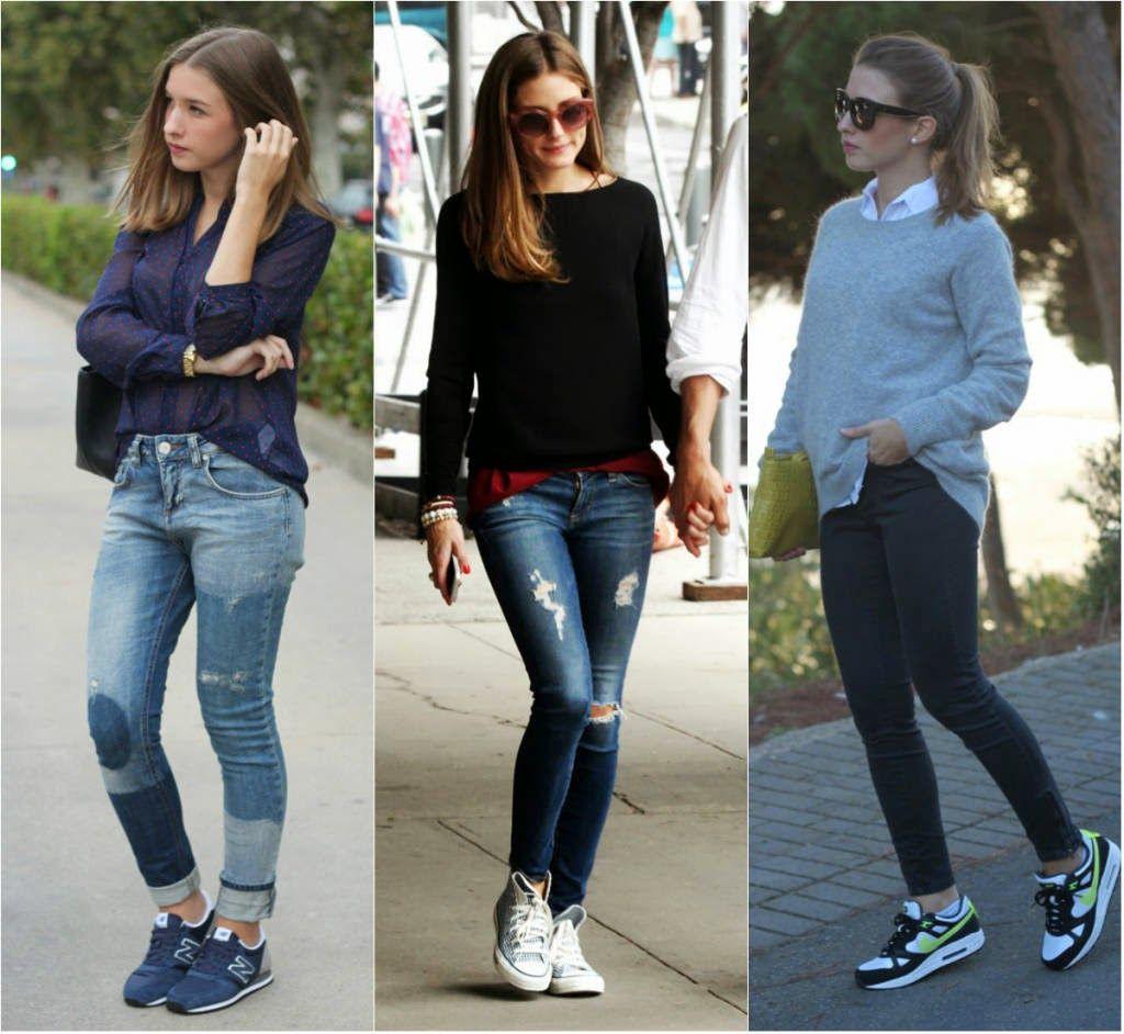 look calça e tênis
