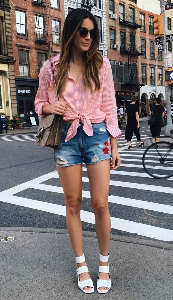 camisa e shorts