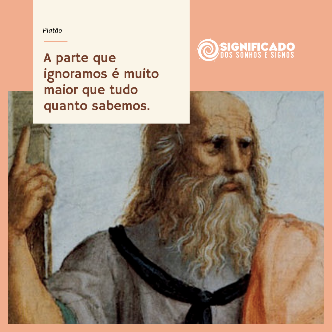 Mensagem de reflexão de Platão