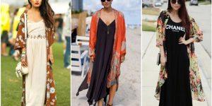 vestido com kimono
