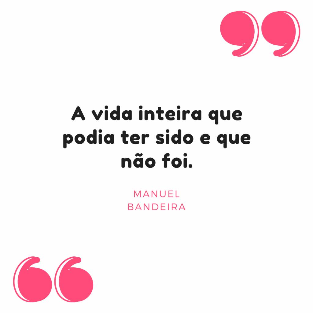 Manuel Bandeira frases
