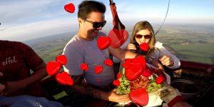 pedido casamento balão